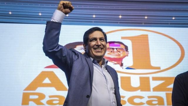 Arauz quedó primero con 3 033 753 votos y Lasso, segundo, con 1 830 045 sufragios.