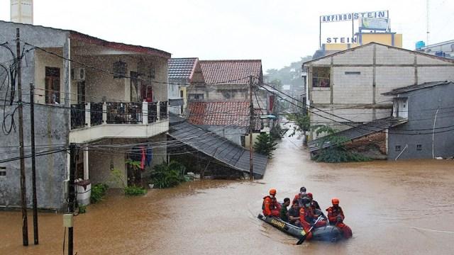 El nivel de agua oscilaba entre 1,2 y 2,7 metros en algunos barrios