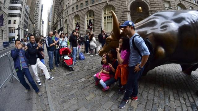 """El """"Charging Bull"""" es una de las obras más fotografiadas de la ciudad de Nueva York."""