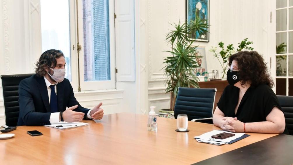Vizzotti mantuvo una reunión de trabajo con el jefe de Gabinete.