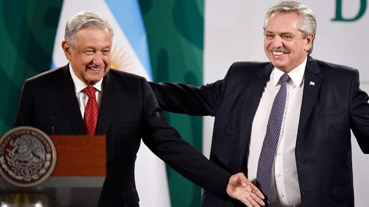 López Obrador agradeció gestiones de Fernández por vacuna contra el coronavirus.