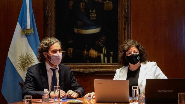 La ministra encabezó esta tarde en la Casa Rosada el primer encuentro del Consejo Federal de Salud, del que participó el jefe de Gabinete, Santiago Cafiero.