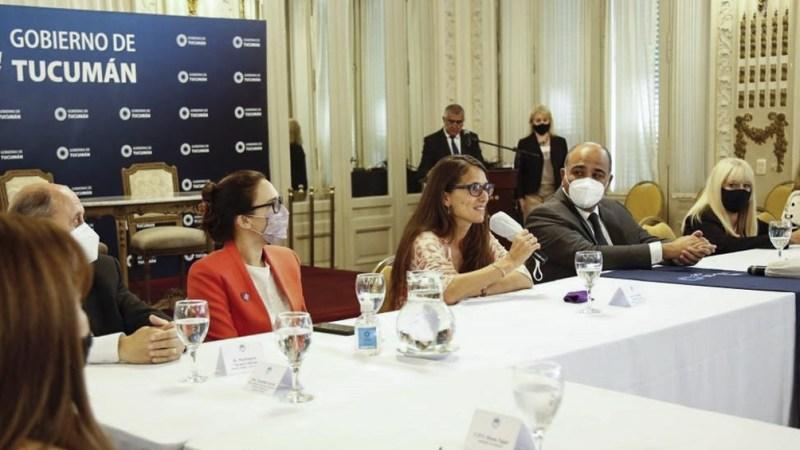 Gómez Alcorta se reunió con Manzur, integrantes de los distintos poderes del Estado y fuerzas de Seguridad provincial.