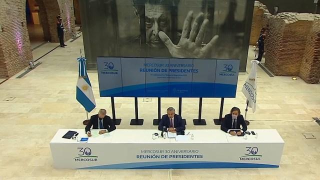 La cumbre anterior, cuando se recordaron los 30 años del bloque sudamericano.