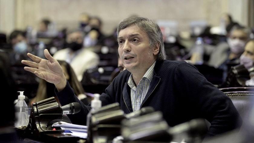 Máximo Kirchner, último orador y principal impulsor del proyecto de ley aprobado en Diputados.