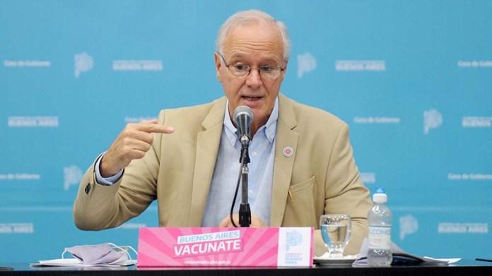 El Ministro de Salud bonaerense informó que hoy se alcanzó el récord de más de 82 mil personas vacunadas.