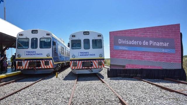 Divisadero, la terminal de Pinamar. Este ramal que parte de la estación de General Guido fue un éxito durante el verano.