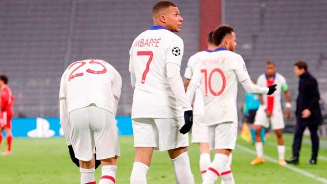 Kylian Mbappé anotó dos goles para los galos en una gran victoria frente al Bayern Munich (Foto: @PSG_inside)