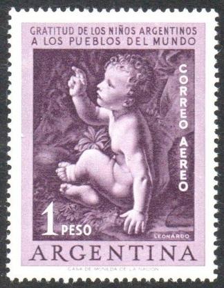 Una edición de estampillas conmemorativas en agradecimiento a la Humanidad. (AGN)