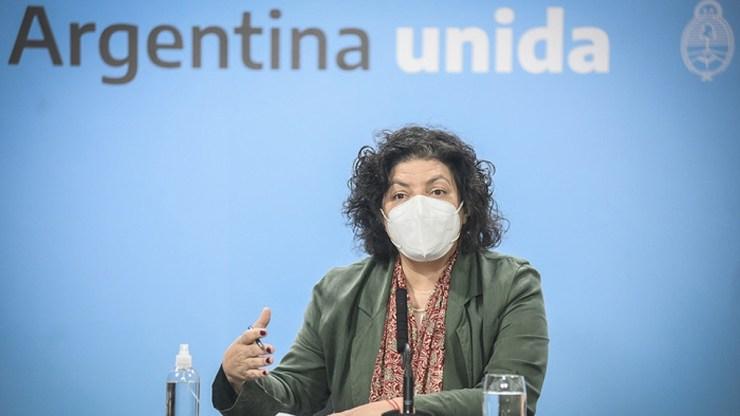 """Tras esta pandemia """"todos vamos a tener problemas de salud mental"""", dijo la ministra Carla Vizzotti."""