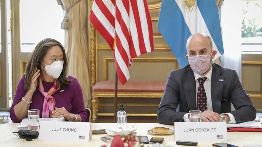 González como la subsecretaria interina para Asuntos del Hemisferio Occidental del Departamento de Estado, Julie Chung evitaron dar una respuesta al pedido del Gobierno de Alberto Fernández para destrabar la exportación de vacunas de AstraZeneca-Oxford