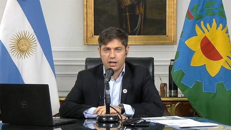 """Kicillof: """"En provincia de Buenos Aires, como siempre, acompañamos las medidas anunciadas por el Presidente""""."""