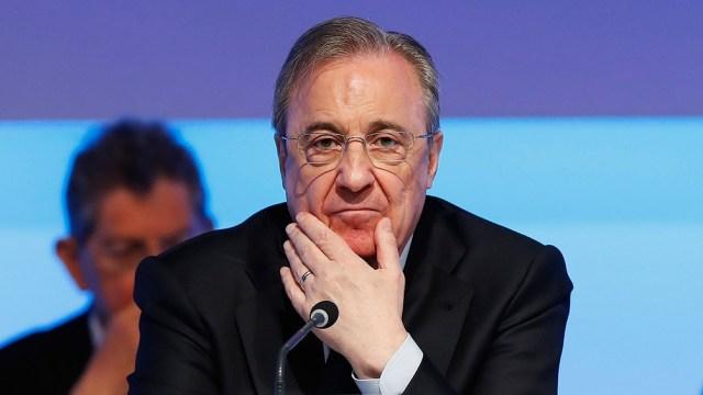 Florentino Pérez presidente del Real Madrid y principal mentor de la Superliga.
