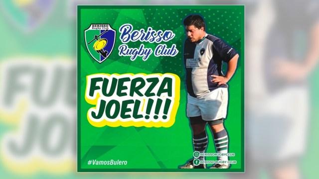 Este fue el pedido del Berisso Rugby Club cuando Joel Rutigliano estaba internado.