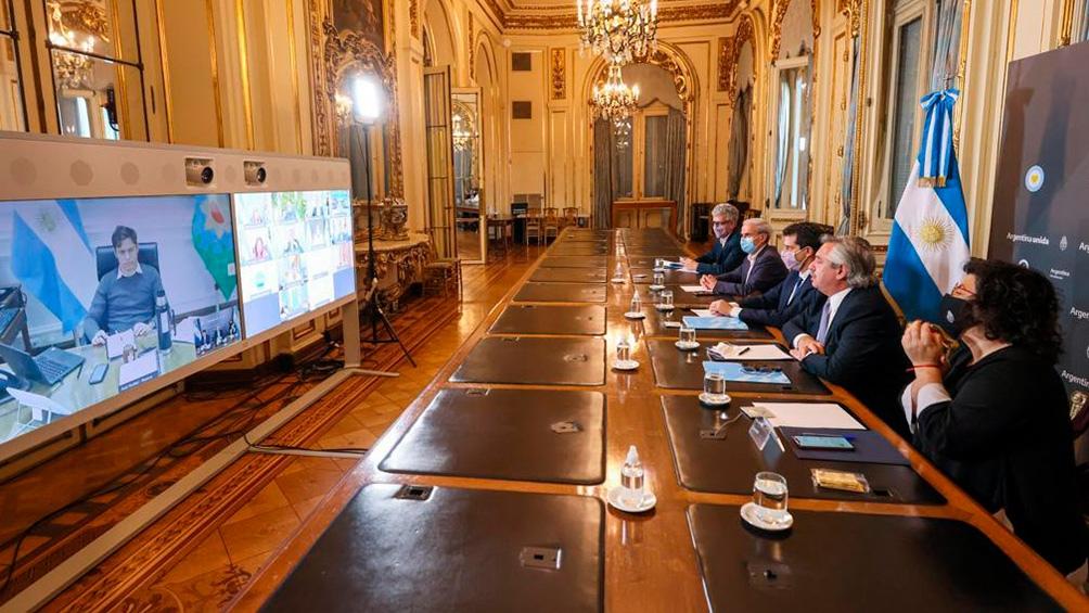 Videoconferencia de Alberto Fernández con gobernadores.
