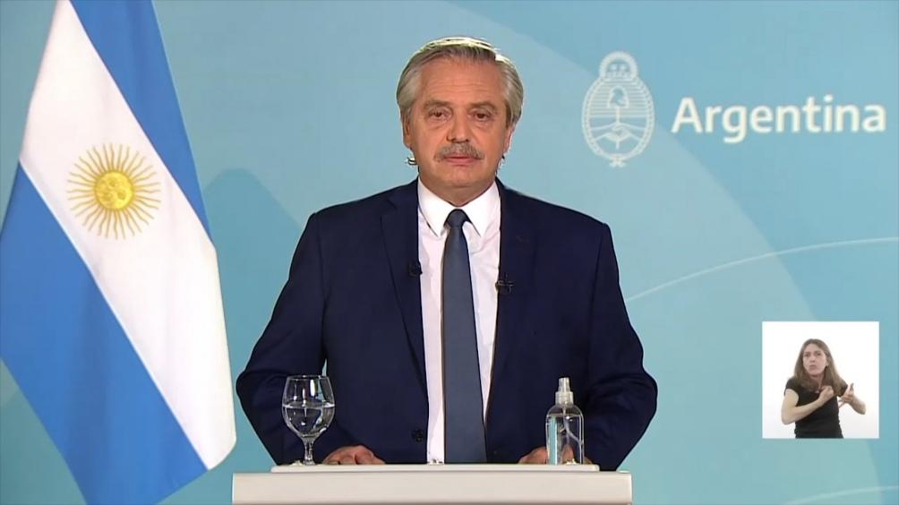 Alberto Fernández había anunciado esta inciiativa durante el anuncio de la extensión de las restricciones.