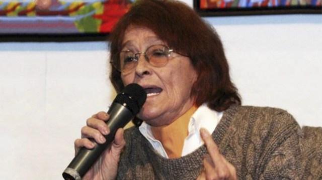 Alcira Argumedo falleció este domingo