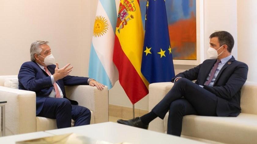 Los mandatarios ya se habían reunido el mes pasado en la gira europea que hizó Alberto.