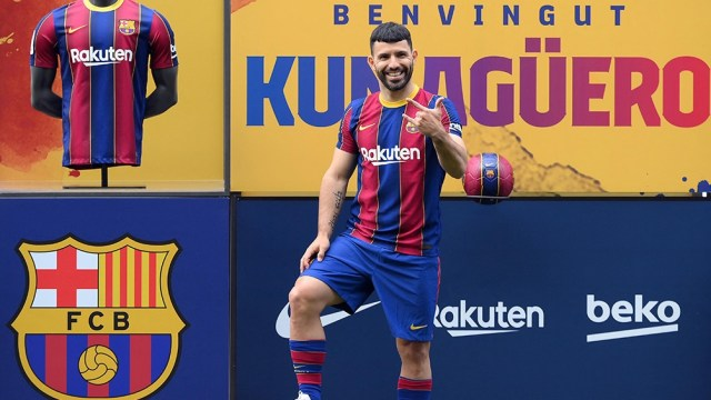 """Sergio Aguero, la figura y leyenda del Manchester City, amigo de """"Leo"""" que es nuevo refuerzo (Foto: AFP)"""