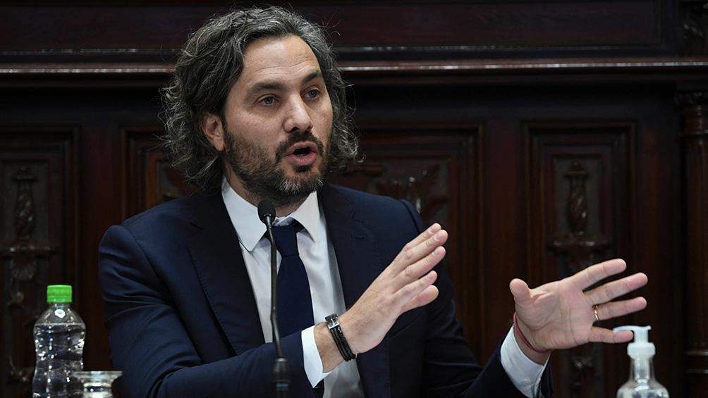"""Santiago Cafiero acusó a la oposición por no hacer ni proponer """"nada"""" y de tener una actitud de """"obstrucción""""."""