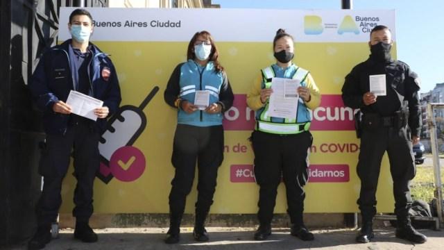 Los operativos estuvieron a cargo del Ministerio de Salud de la Ciudad.