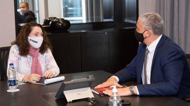 Cristina Caamaño, interventora de la Agencia Federal de Inteligencia, y Horacio Pietragalla, secretario de Derechos Humanos.