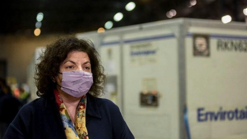 """La ministra de Salud, Carla Vizzotti, destacó que la Argentina superará los 40 millones de vacunas recibidas para inmunizar contra el coronavirus y que el 50% de la población """"ya está vacunada con al menos una dosis""""."""