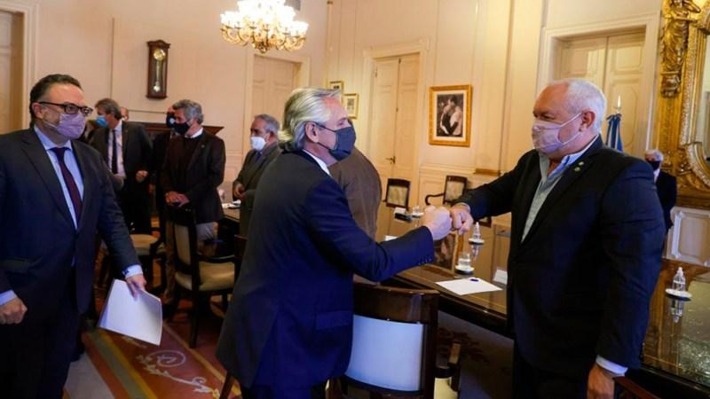 El encuentro se inició cerca de las 13 en Casa Rosada.