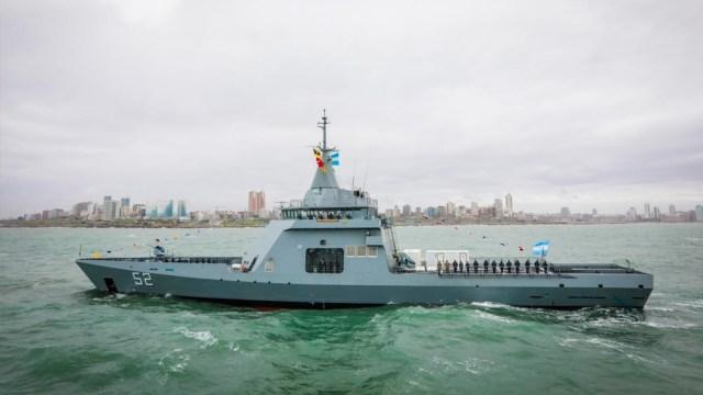 """Patrullero oceánico ARA """"Piedrabuena"""", recientemente incorporado por la Armada Argentina."""