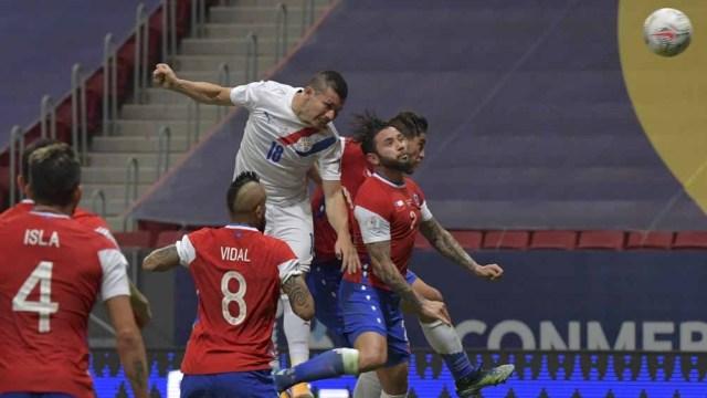 Paraguay y su gran gol de pelota parada ante Chile (Foto: @CopaAmerica)