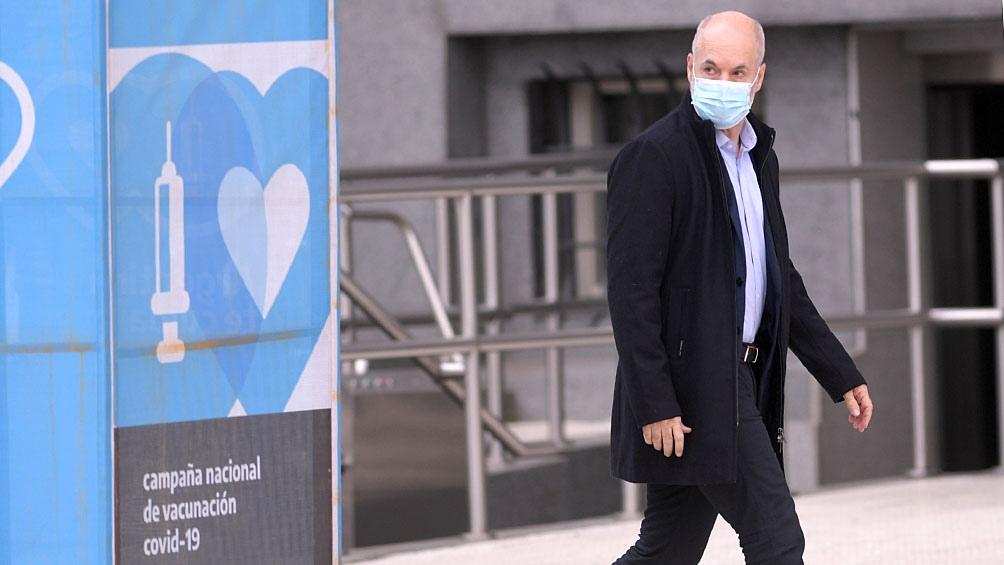 Rodríguez Larreta, en su llegada al homenaje.