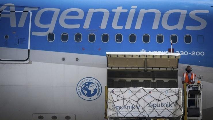 El martes pasado habían llegado 709.085 Sputnik V, 359.085 dosis del componente 1 y 350.000 del componente 2.