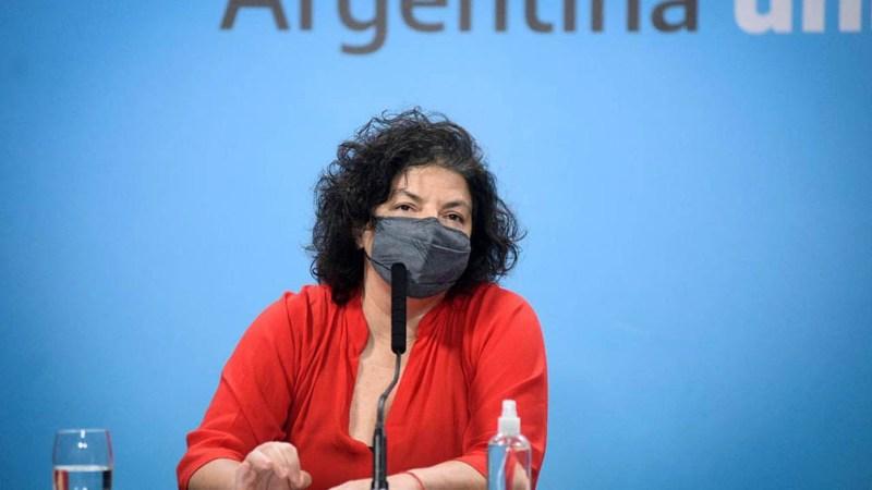 Carla Vizzotti, ministra de Salud de la Nación.