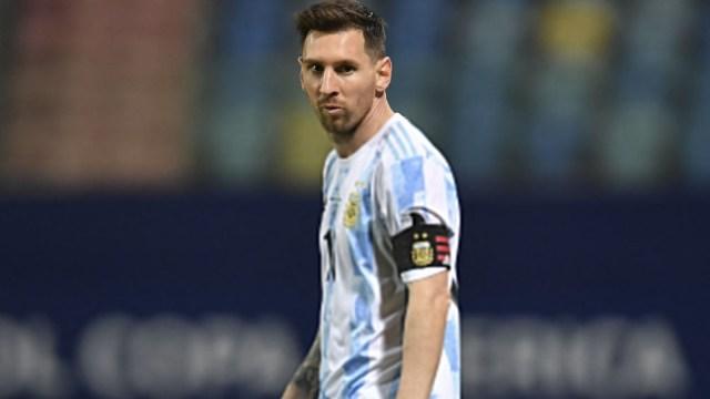 Messi, la carta de gol de Argentina, que notó su tanto ante Ecuador (foto: @CopaAmerica)