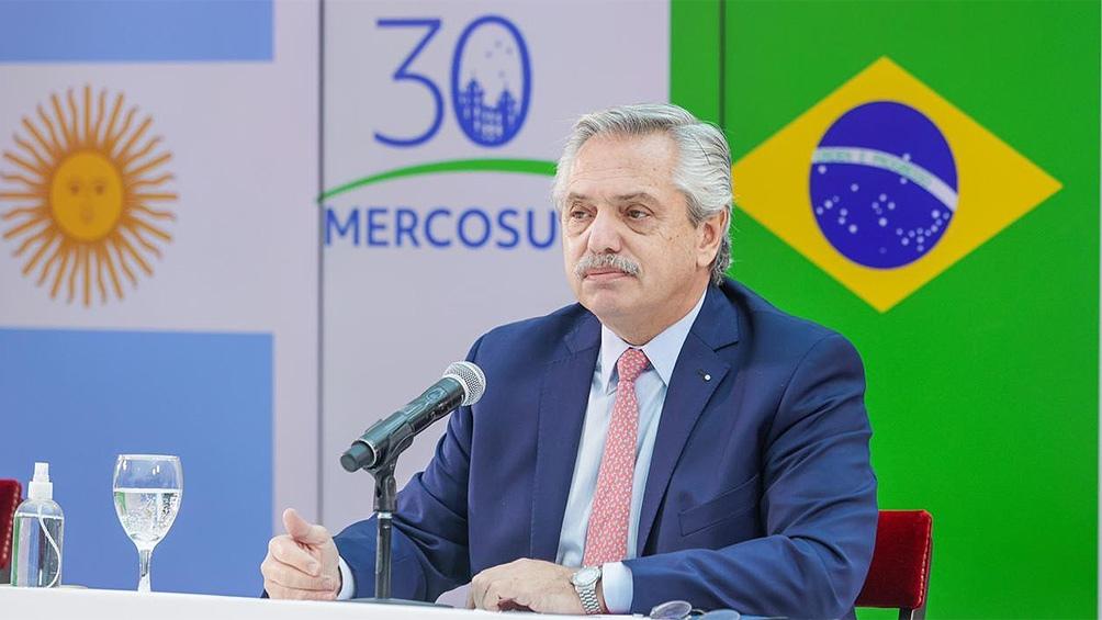 """Fernández: """"Tenemos la responsabilidad histórica de fortalecer al Mercosur frente a la crisis de Covid-19"""""""