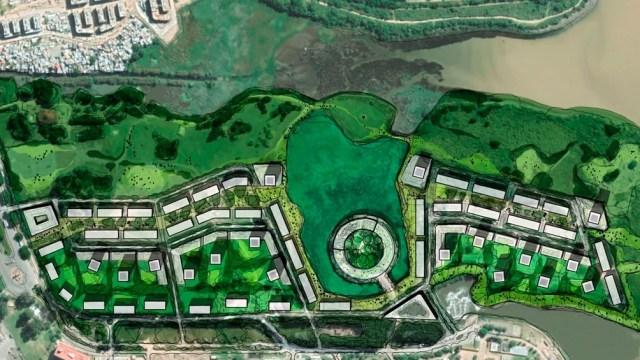 Se trata de una parcela de 71 hectáreas de la Costanera Sur, donde iba a funcionar la Ciudad Deportiva Boca Juniors.