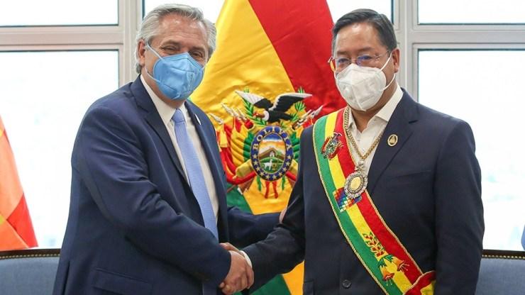 """""""El gobierno del pueblo argentino se ha portado siempre bien con nosotros, los bolivianos"""", dijo Arce al referirse al gobierno de Fernández."""
