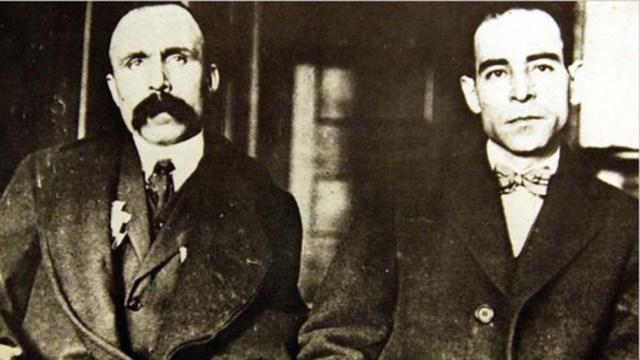 Nicola Sacco y Bartolomeo Vanzetti, trabajadores y anarquistas.