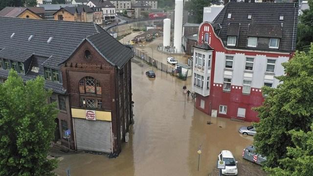 Temporal con fuertes lluvias en Alemania (AFP).