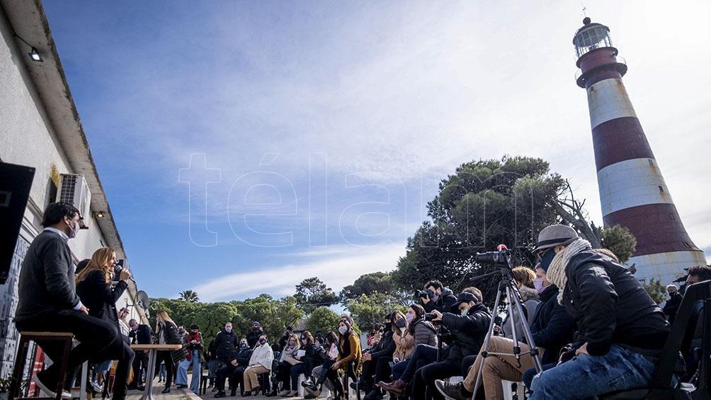"""""""Venimos a proponer la agenda del trabajo y la reconstrucción"""" dijo Tolosa Paz respecto del proyecto político de FdT. Foto: Diego Izquierdo"""