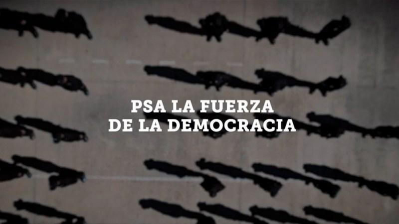 """El documental se llama """"La fuerza de la democracia"""""""