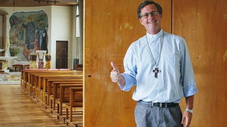 """El obispo de la diócesis más austral dijo no tener otra información """"más que el llamado que me hizo el Papa haciéndome esta propuesta.Foto: Walter Díaz"""