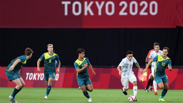 Barco, uno de los puntos altos de Argentina en el debut ante Australia en Tokio 2020 (@Argentina)