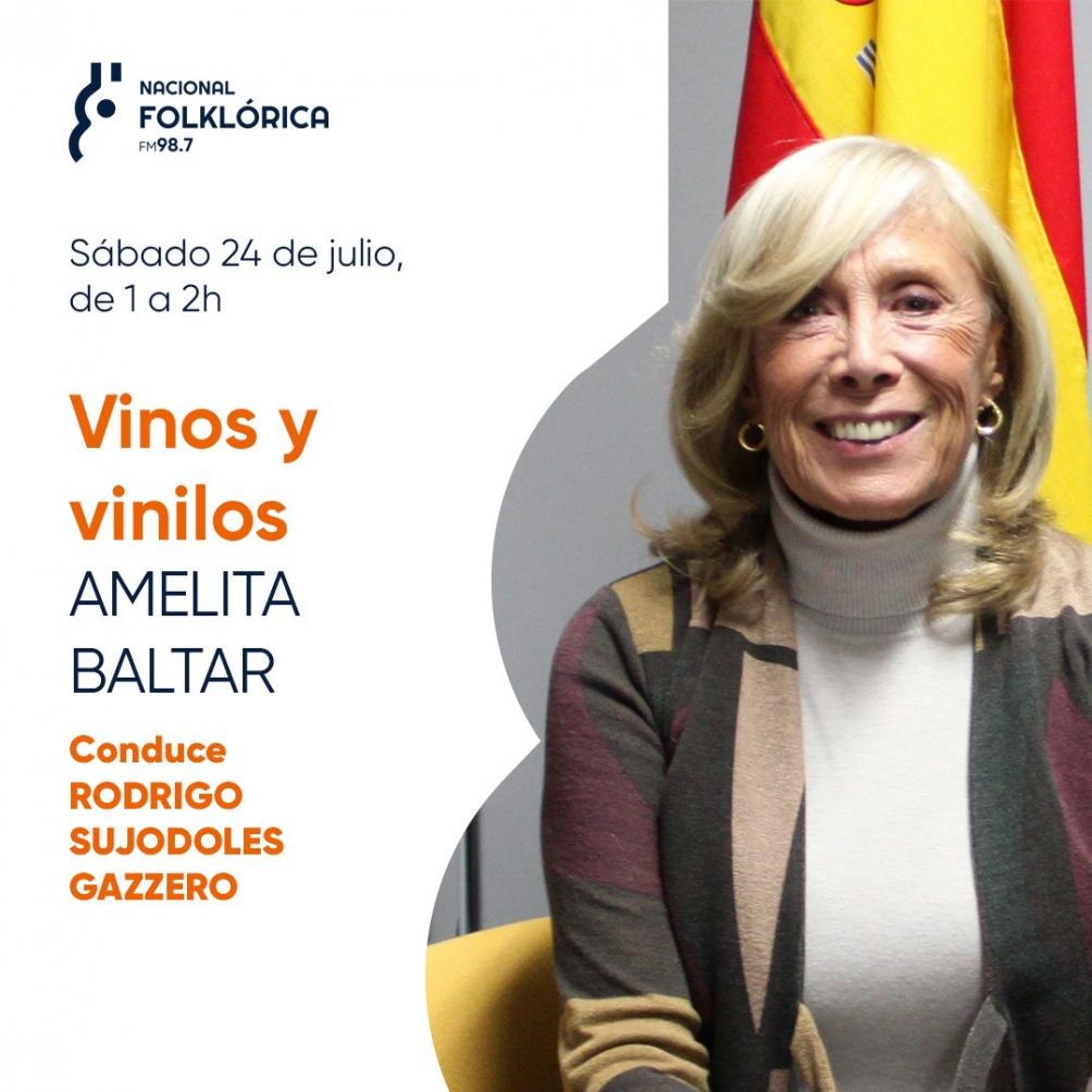 Una invitada de lujo en Nacional floklórica: Amelita Baltar.