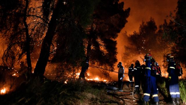 Incendios forestales en Grecia. (foto: agencia Xinhua)