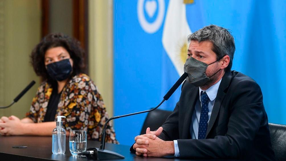 Matías Lammens confirmó el regreso de un aforo del 30 por ciento en el duelo de Argentina frente a Bolivia del 9 de septiembre. Foto: Presidencia