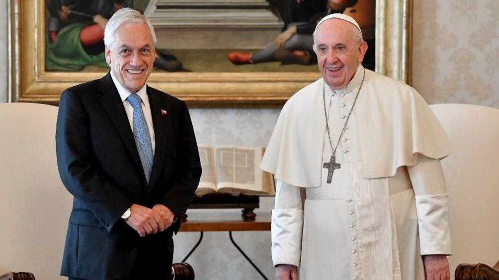 Piñera llegó este miércoles a Roma como parte de una gira europea (Foto Vatican News).