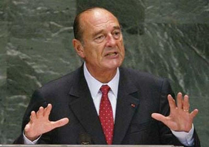 Jacques Chirac, expresidente de Francia.