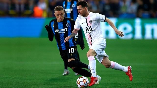 Messi tuvo un remate en el palo para el Paris Saint Germain. Foto: AFP