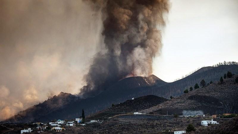 Erupción del volcán Cumbre Vieja. Foto AFP.